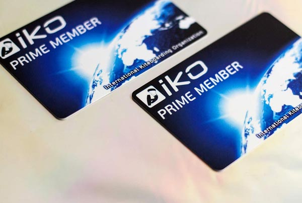 Example of membership cards for Aiko