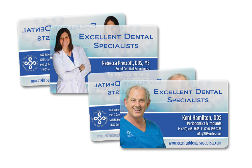 Dentist Business Card With Clear Elements