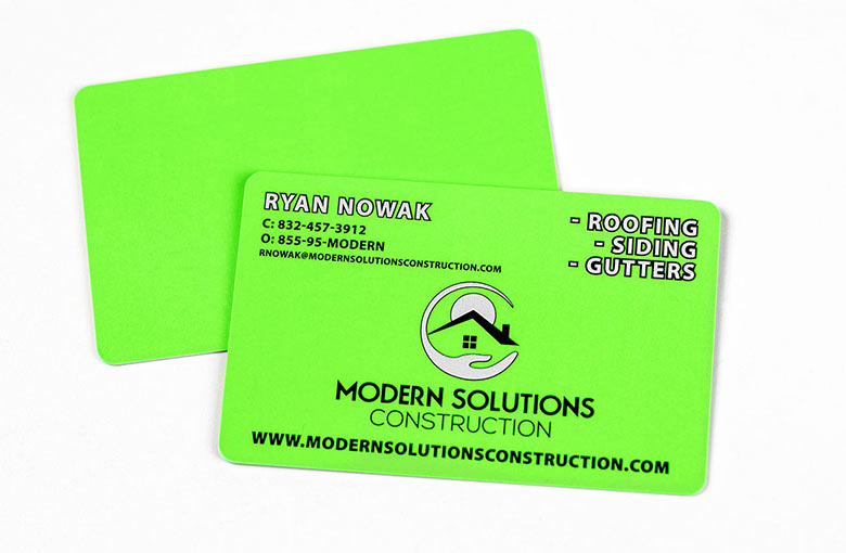Construction business cards business card plastic printers roofing business cards reheart Choice Image