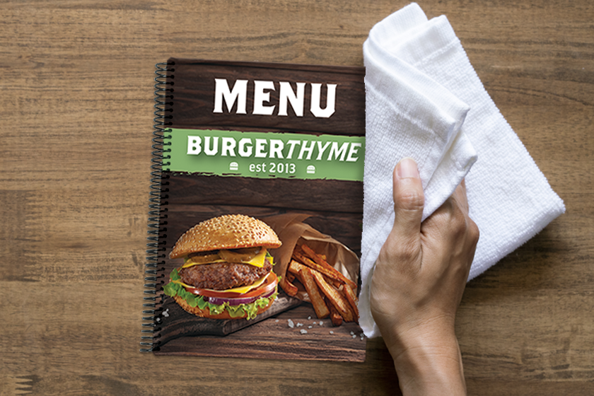 How to Properly Sanitize Your Menus