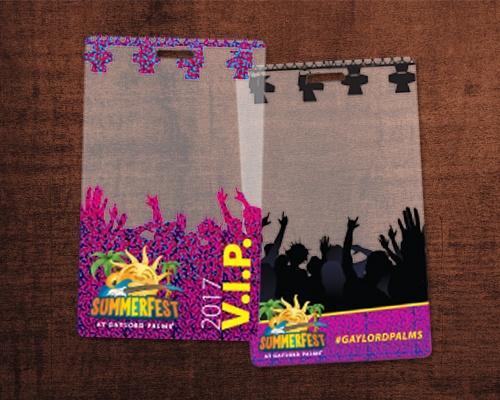 Summerfest Custom VIP Passes Printed on Clear Plastic Cards