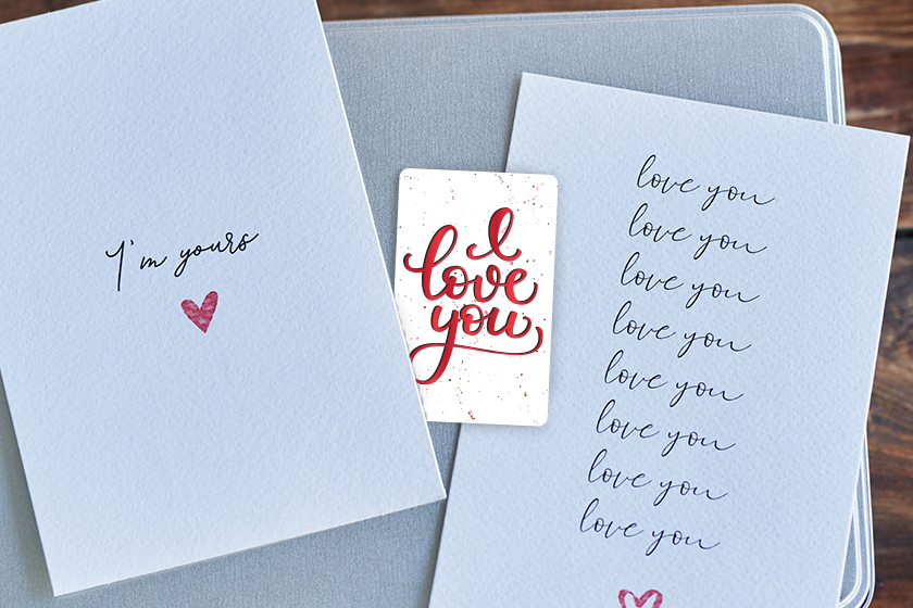 Custom gift cards for Valentine's Day