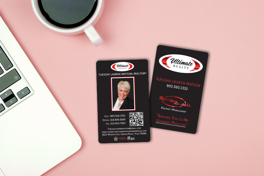 Custom business cards with a QR code