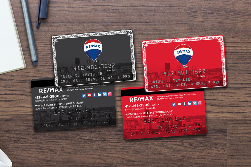 Realtor business cards with embossing