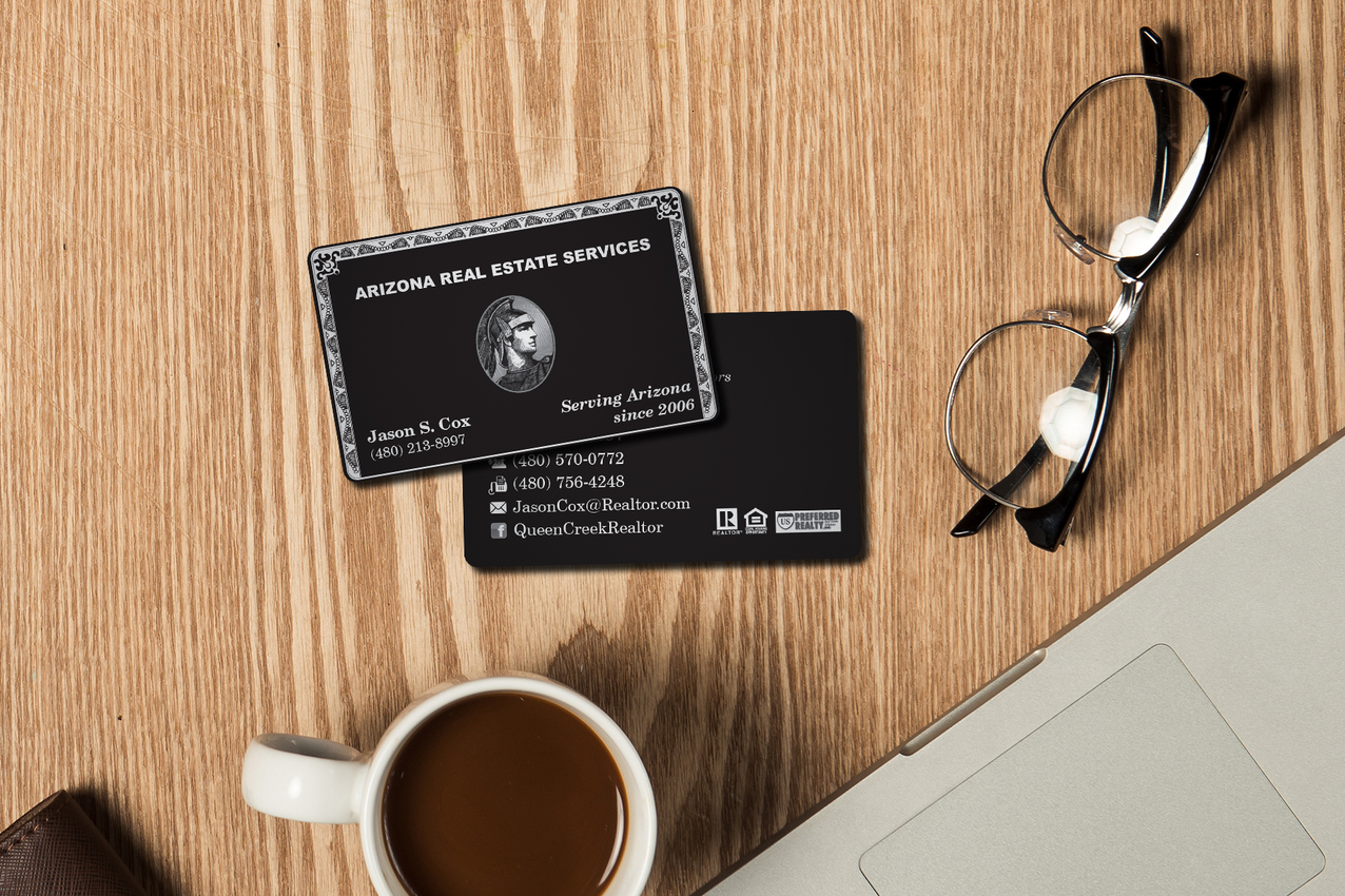 Custom plastic business cards for a real estate agent