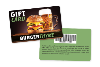 restaurant gift card example