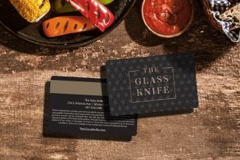 Custom gift cards for a restaurant with foil