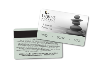 massage gift card example
